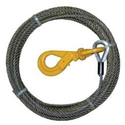 Wire Rope Assembly with Self-Locking Swivel Hook
